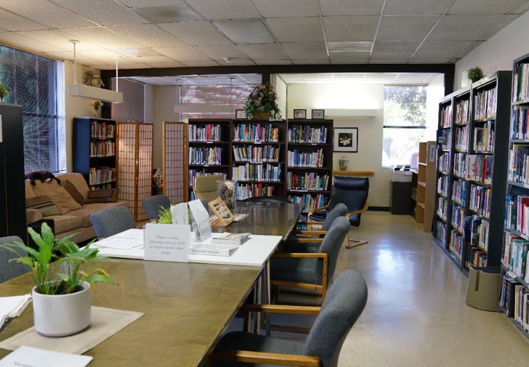 the library at Acupuncture and Integrative Medicine College Berkeley