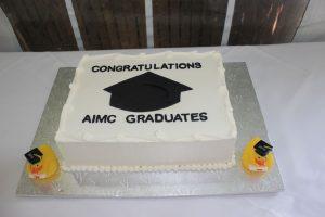 cake to congratulate AIMC graduates