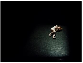 woman laying on the ground