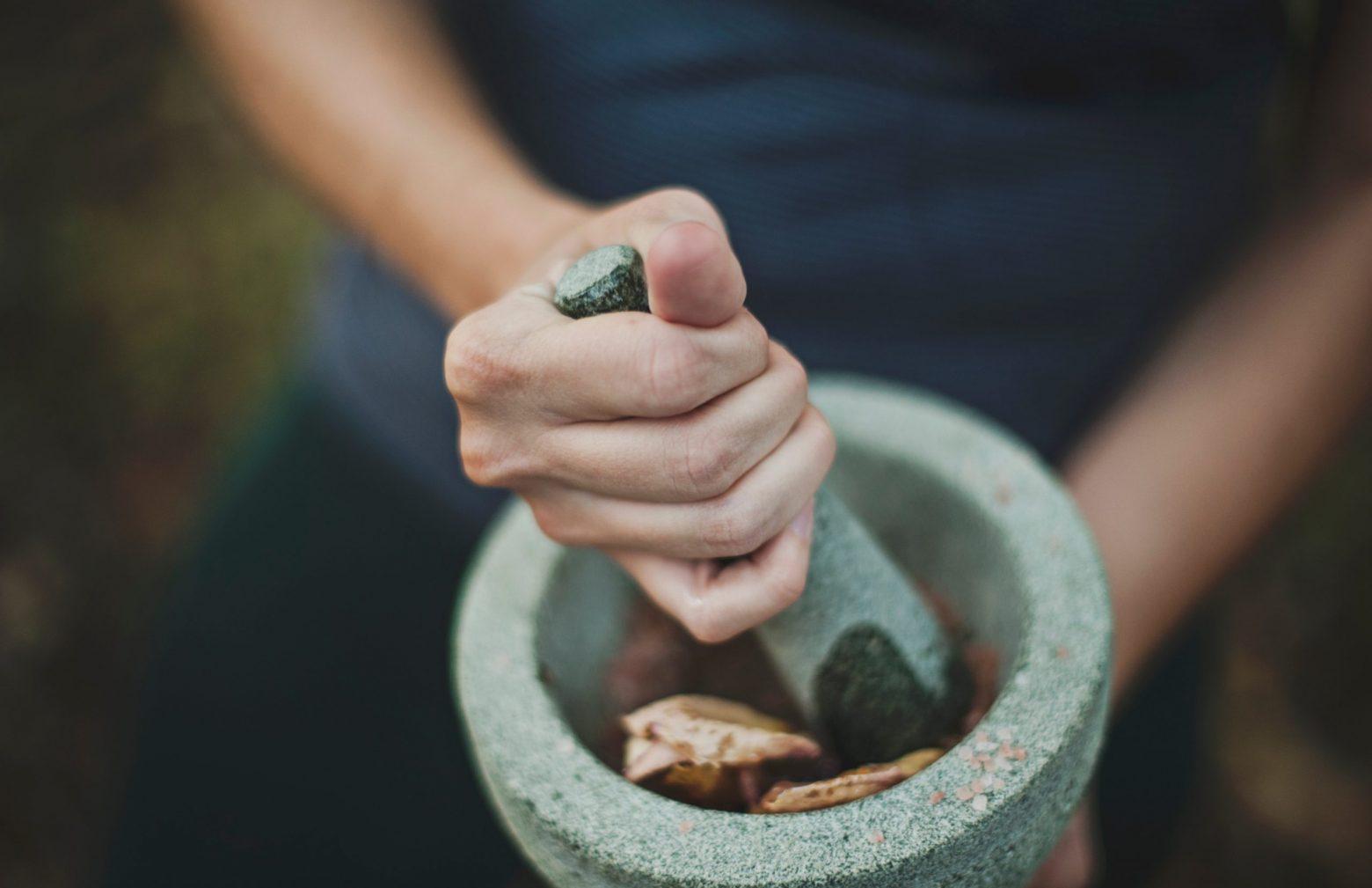 Pestal and Mortar - chinese herbs