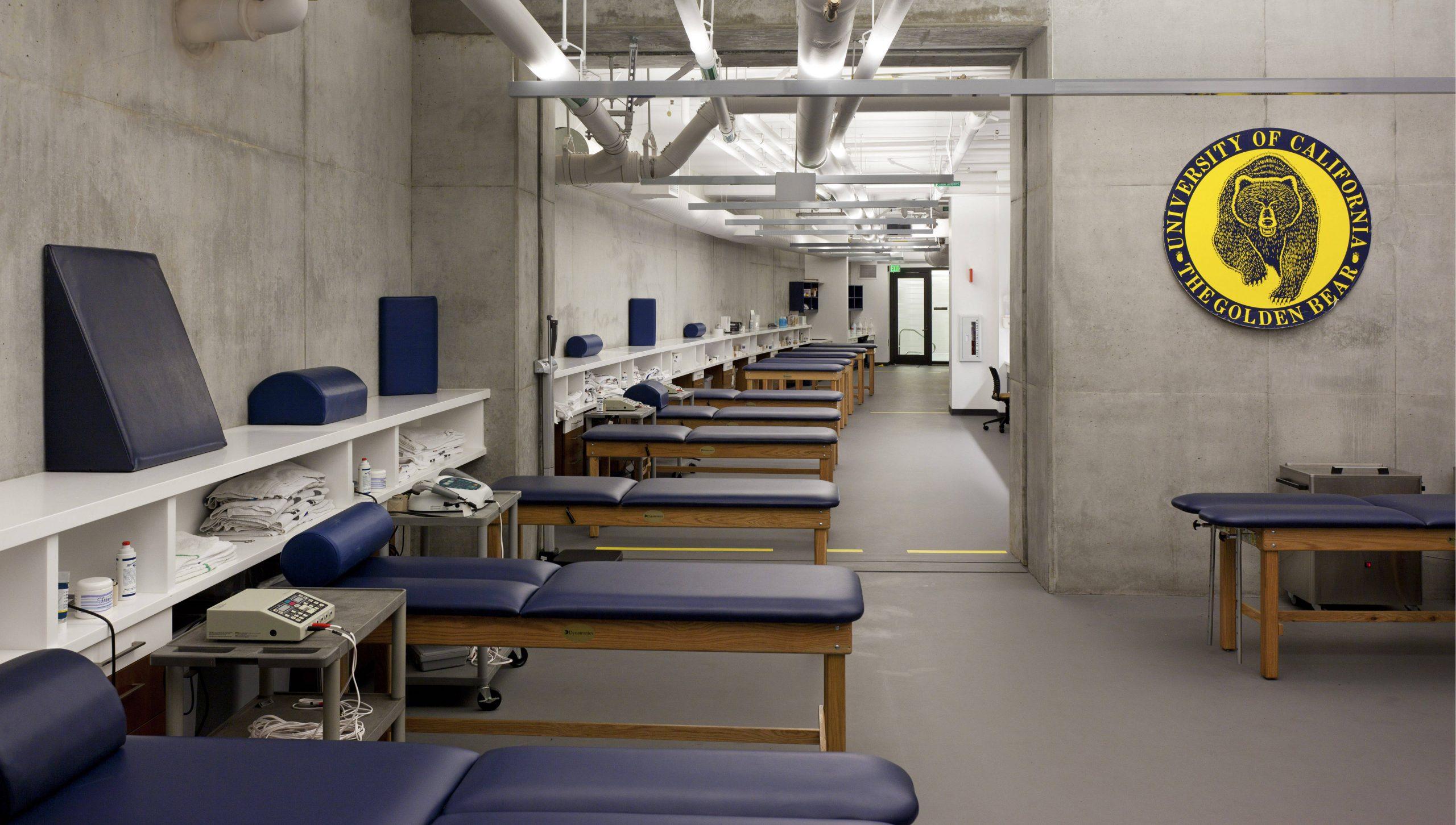 Interior of UC Berkeley Simpson Center Sports Medicine Area